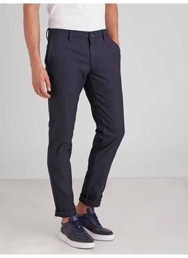 Dufy Lacıvert Armür Erkek Pantolon - Regular Fıt Lacivert